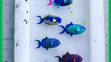 Made and painted some trigger fish