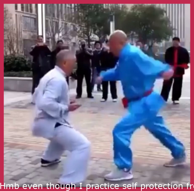 Hmb while I practice self defense from women's self defense